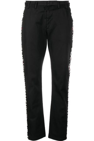 Nº21 Side stripe straight-leg trousers