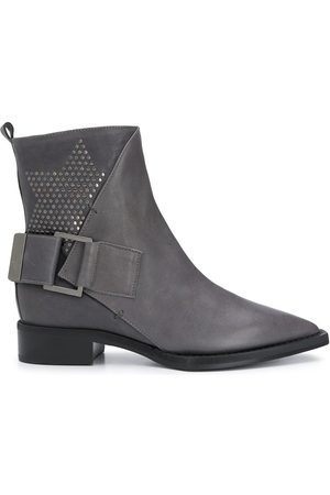 LORENA ANTONIAZZI Pointed toe ankle boots - Grey