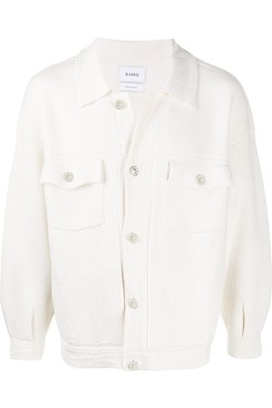 Barrie Men Denim Jackets - Oversized knitted denim jacket