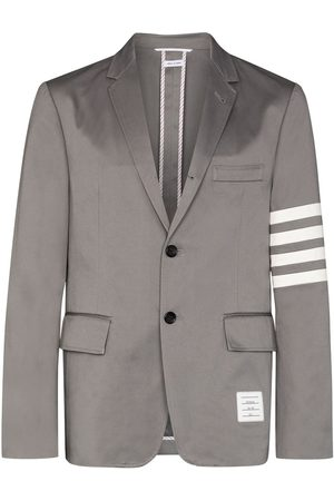 Thom Browne 4-bar stripe single-breasted blazer - Grey