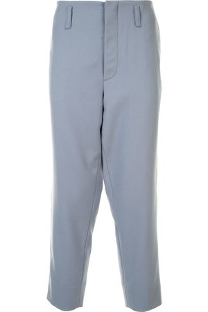 Ports V Cropped side stripe trousers