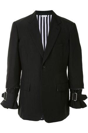 Comme des Garçons Raw edge blazer jacket with buckle detail