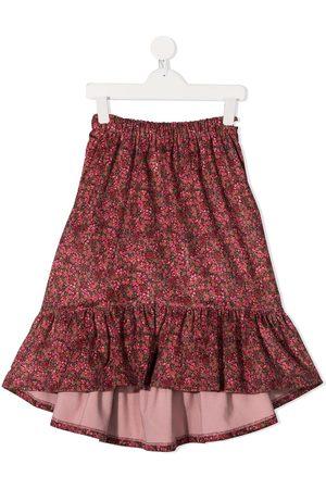 PHILOSOPHY DI LORENZO SERAFINI Girls Printed Skirts - Floral print midi skirt