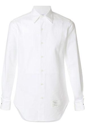 Thom Browne Button-Down Pique Tux Shirt