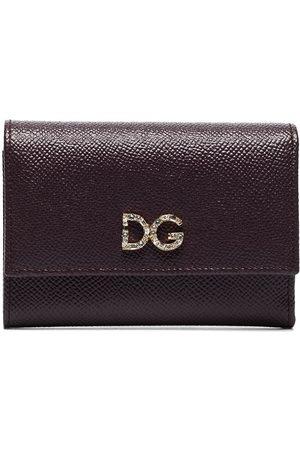 Dolce & Gabbana Women Wallets - Crystal-embellished logo-plaque wallet
