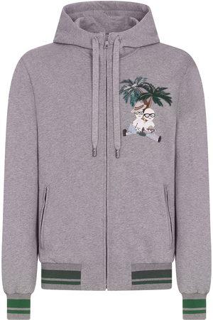 Dolce & Gabbana Jungle explorer-embroidered hoodie - Grey