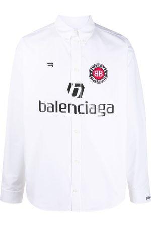 Balenciaga Soccer print buttoned shirt
