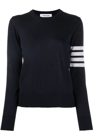Thom Browne Striped-sleeve merino-wool knit jumper