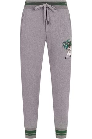 Dolce & Gabbana Jungle character-embroidered track pants - Grey