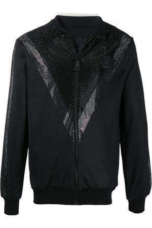 Philipp Plein Chevron-rhinestone bomber jacket