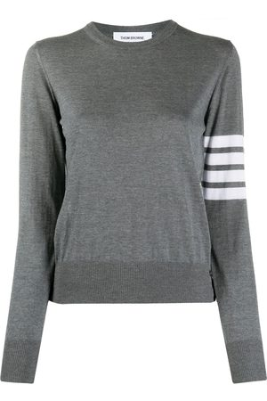 Thom Browne Round neck stripe jumper - Grey