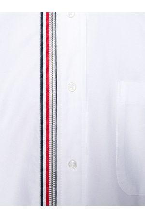 Thom Browne 4-Bar Zip-Front Oxford Shirt