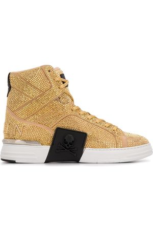 Philipp Plein Men Sneakers - Rhinestone-embellished high-top sneakers