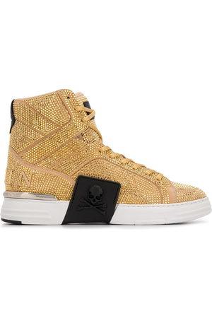 Philipp Plein Rhinestone-embellished high-top sneakers