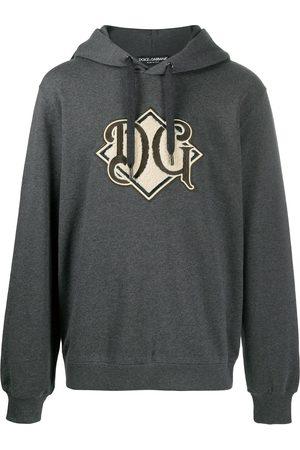 Dolce & Gabbana Logo-patch hoodie - Grey