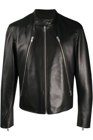Maison Margiela Mock neck leather jacket