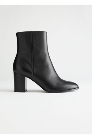 & OTHER STORIES Almond Toe Leather Ankle Boots