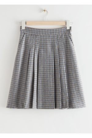 & OTHER STORIES Pleated Wool Blend Mini Skirt