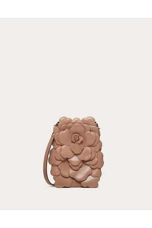 VALENTINO GARAVANI Women Shoulder Bags - Small Atelier Bag Nappa Crossbody With Petals Women Rose Cannelle Lambskin 100% OneSize