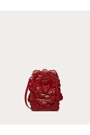 VALENTINO GARAVANI Women Shoulder Bags - Small Atelier Bag Nappa Crossbody With Petals Women Rosso Valentino Lambskin 100% OneSize