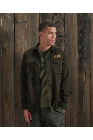 Superdry Men Shirts - Core Military Patched Shirt
