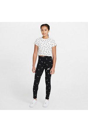 Nike Girls' Sportswear Printed Leggings Size Large Cotton/Spandex/Jersey
