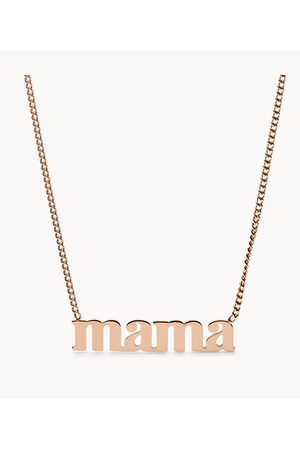 Fossil Women Necklaces - Women's Mama -Tone Stainless Steel Necklace