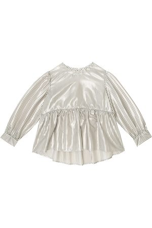 Brunello Cucinelli Girls Blouses - Striped silk blouse