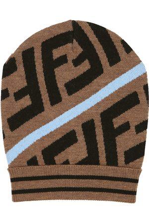 Fendi FF wool-blend beanie