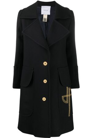 Patou Embroidered logo midi coat