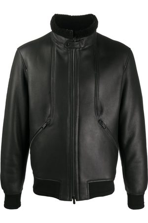 Ermenegildo Zegna High neck lambskin jacket