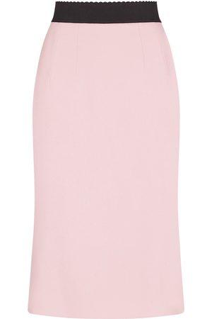 Dolce & Gabbana Scallop-edge waistband skirt