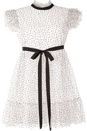 Karen Walker Polka dot ruffle mini dress
