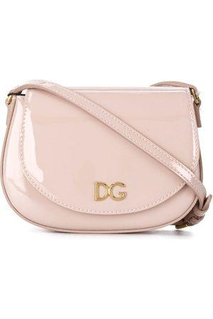 Dolce & Gabbana DG logo patent leather crossbody bag