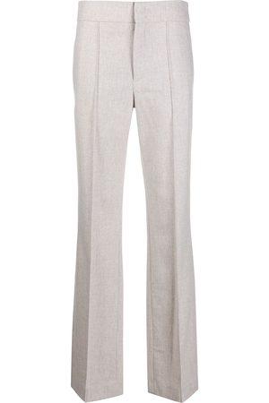 Isabel Marant Women Straight Leg Pants - High-waisted straight-leg trousers - Grey