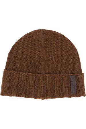 Ermenegildo Zegna Logo tab knitted beanie