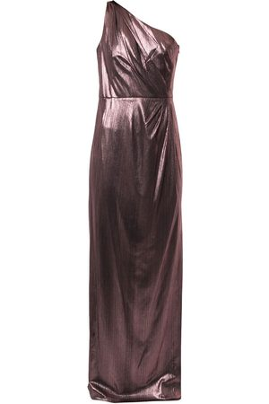 Marchesa Notte Women Evening dresses - Metallized one-shoulder dress