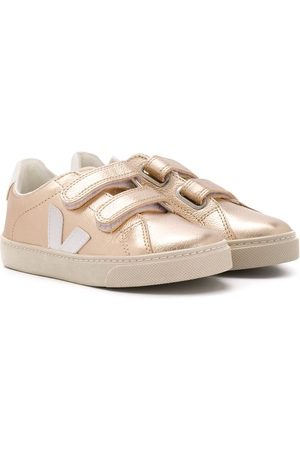 Veja Kids Laminated touch strap sneakers