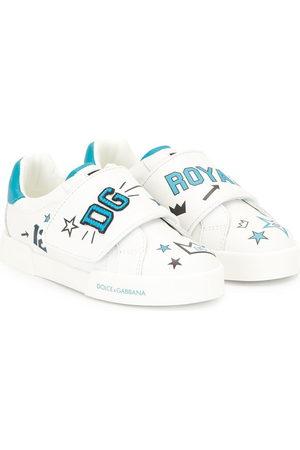 Dolce & Gabbana Logo print touch strap sneakers
