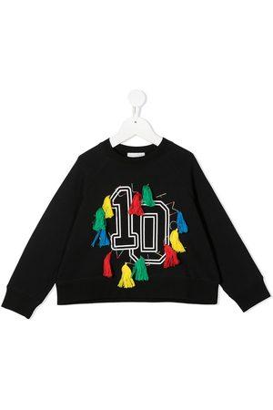 Stella McCartney Varsity-print tassel sweatshirt