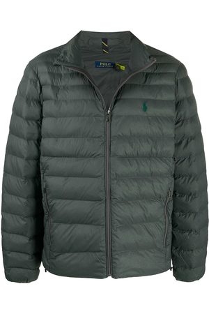 Polo Ralph Lauren Logo-embroidered padded jacket - Grey