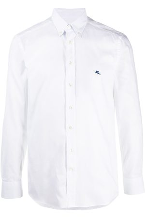 Etro Men Long sleeves - Long-sleeved embroidered logo shirt
