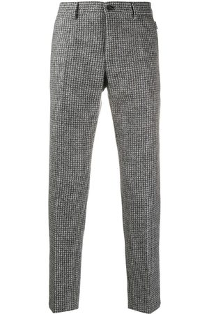 Dolce & Gabbana Checked tailored trousers - Grey