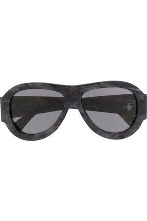 OFF-WHITE Oversized pilot sunglasses - Grey