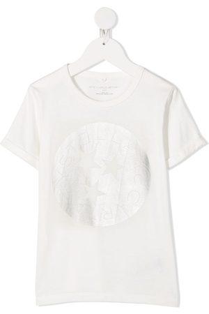 Stella McCartney Circle logo-print T-shirt - Neutrals