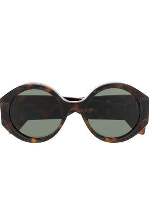 OFF-WHITE ROUND SUNGLASSES HAVANA OFF WHITE