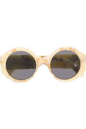 OFF-WHITE ROUND SUNGLASSES YELLOW MARBLE NO COLOR - Neutrals