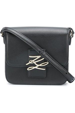 Karl Lagerfeld Signature plaque crossbody bag