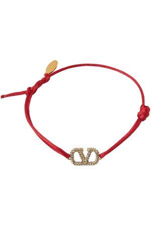 VALENTINO GARAVANI Crystal V Logo Signature Slim Bracelet