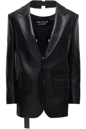 JUNYA WATANABE Faux Leather Jacket W/ Open Back